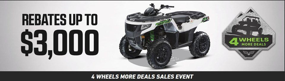 4 wheels more ATV deals